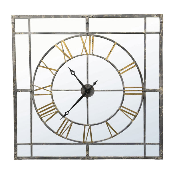 Large Metal Framed Skeleton Clock