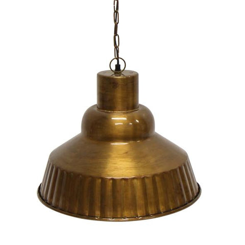 Brass finish Pendant Lamp - Ribbed