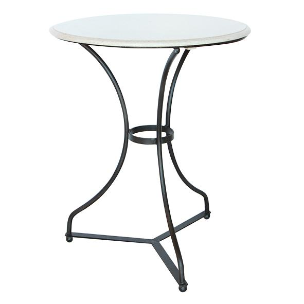 Marble & Iron Side Table