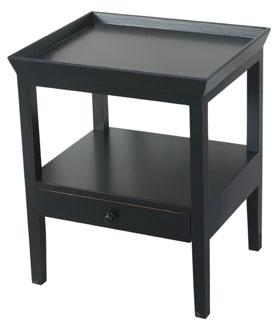 Santiago Bedside Table or Side Table - Black