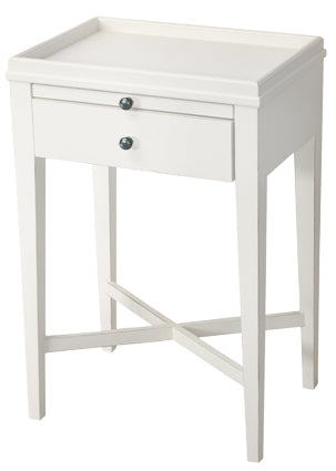 Saskia Bedside Table or Side Table - White