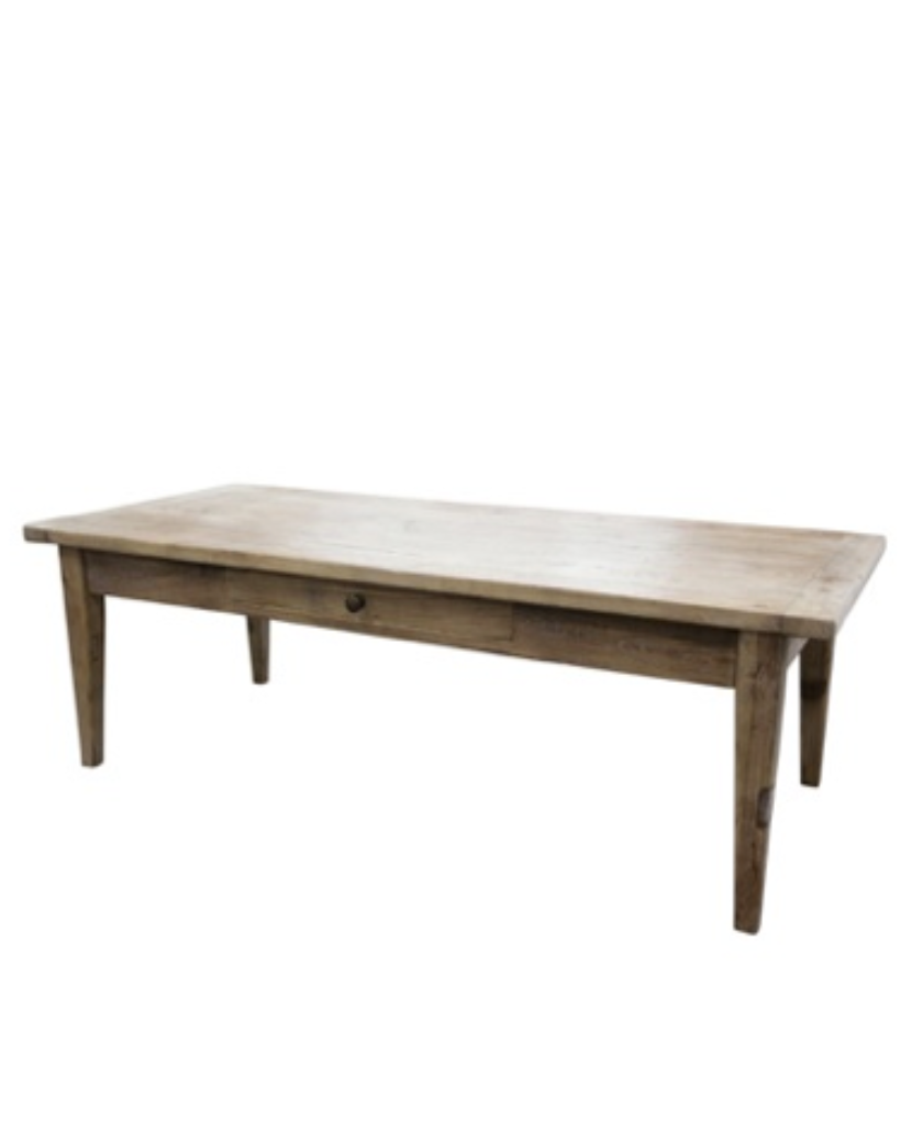 Elm Coffee Table with Drawer - Allissias Attic & Vintage French Style  - 1