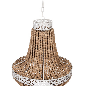 Ball Chandelier - White & Natural - Allissias Attic & Vintage French Style