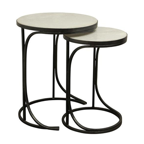 Palo Nesting Tables - Charcoal & Marble