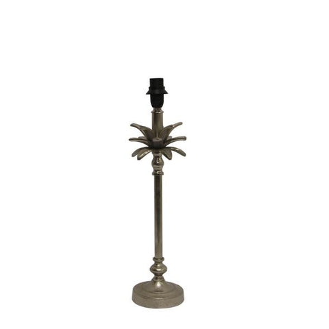 Palm Tree Antique Nickel Lamp - Set of 2