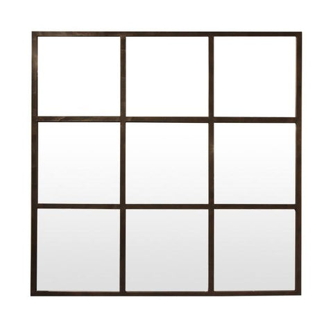 Iron Grid Mirror - Square