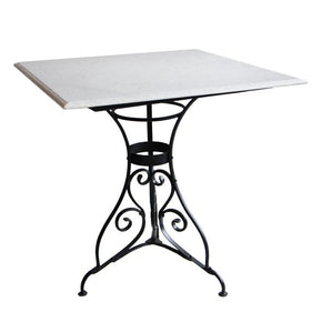 Square Paris Table with Marble Top + Chairs