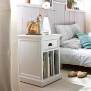 Hamptons Style Side Table, Vertical Dividers & Drawer