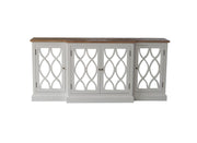 Lattice over Mirror Sideboard with Parquet Top
