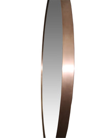 Copper Round Willow Mirror