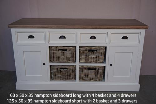 Buffet 2 Door / 4 Baskets - White
