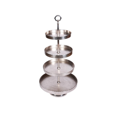 Metal Cake Stand - 4 Tiered - Allissias Attic & Vintage French Style  - 2