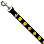 Smiley Black Dog Leash