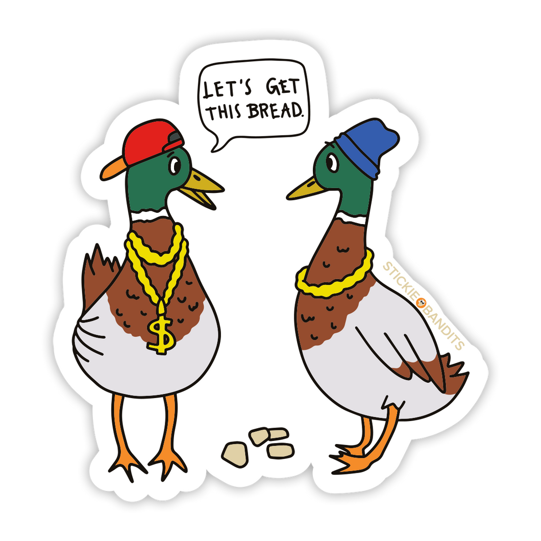 Bread Ducks Sticker
