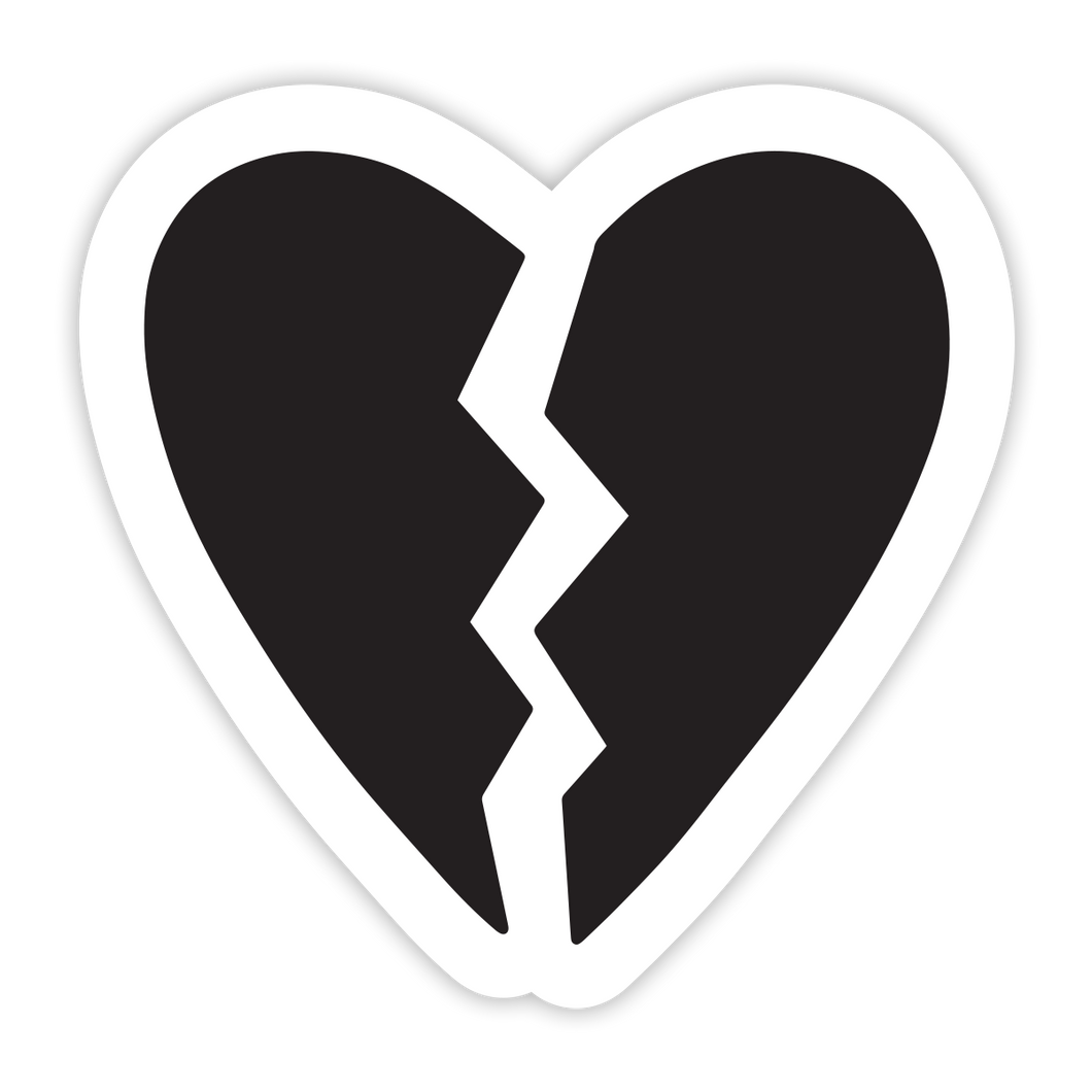 Broken Heart Sticker