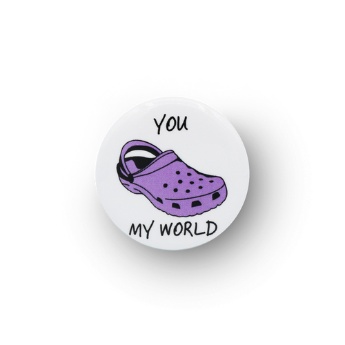 Croc My World Button