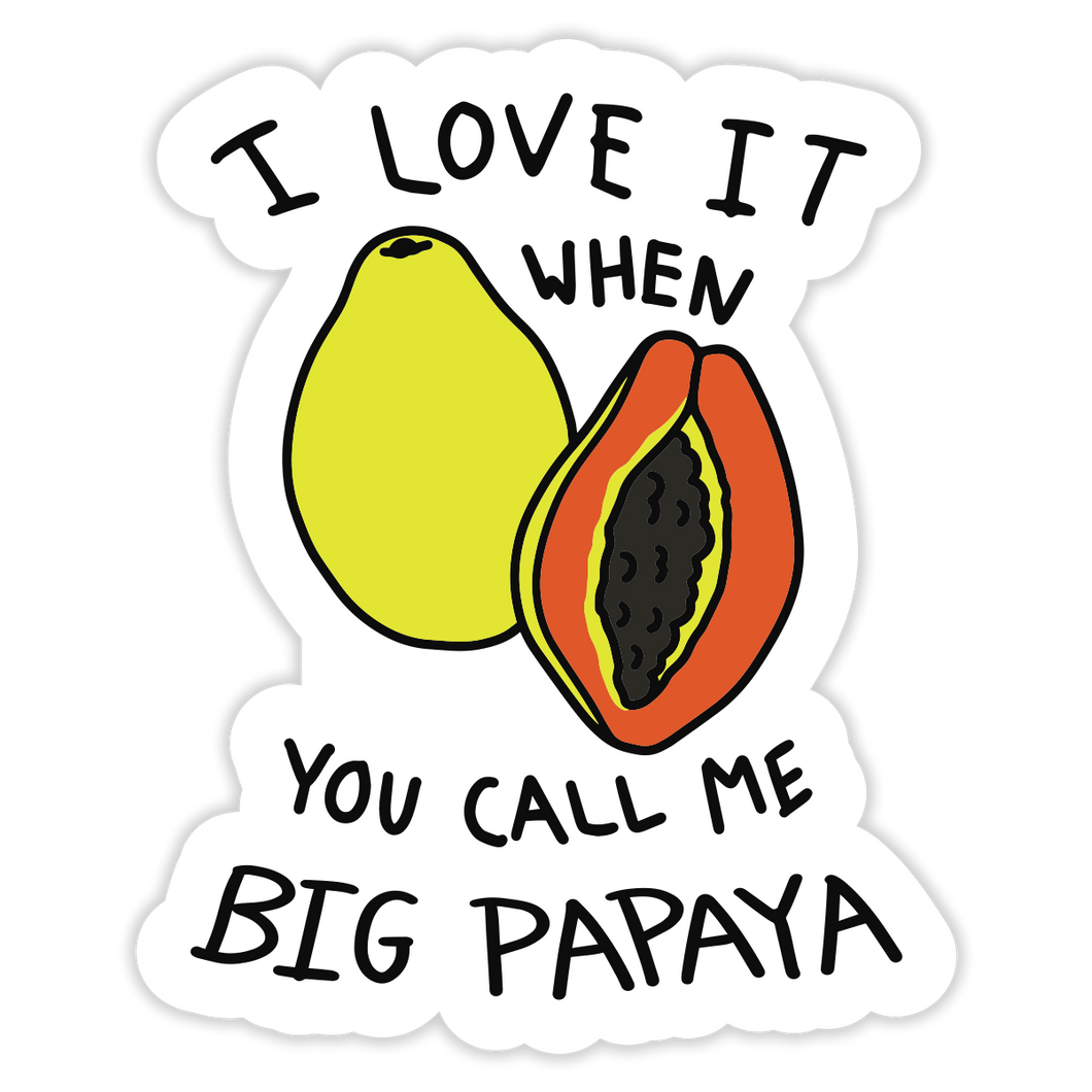 Big Papaya Sticker