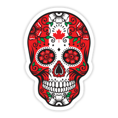 Day of the Dead Skull Canada Sticker