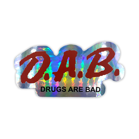 D.A.B. Holographic Sticker