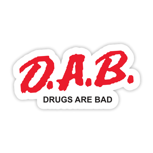 D.A.B. White Sticker