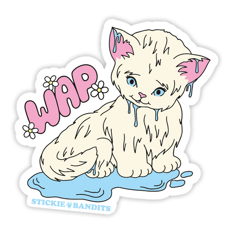 Wet Kitty Sticker