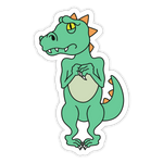 Scared Dino Sticker
