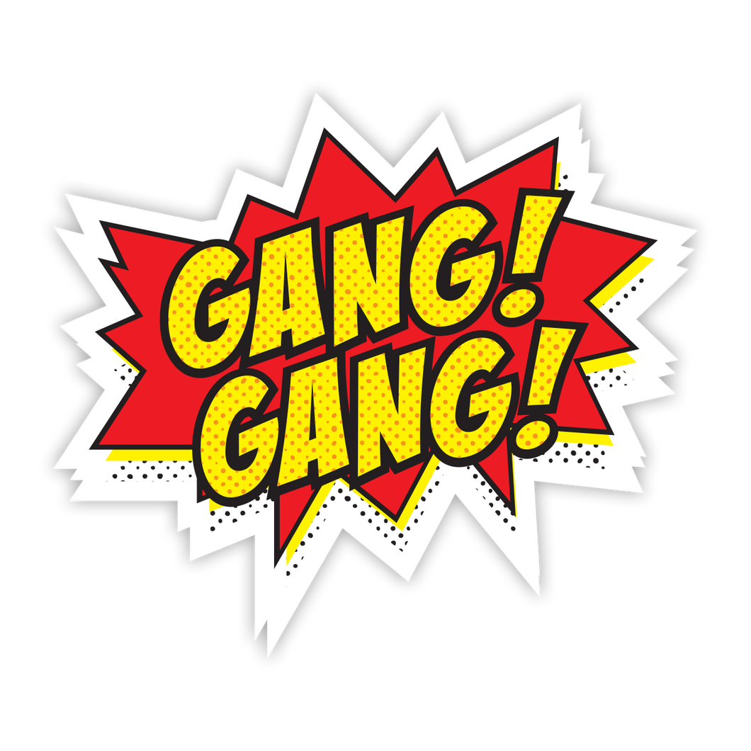 Gang Gang Comic Sticker