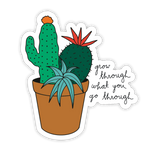 Grow Through Sticker
