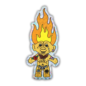 Troll Tat Holographic Sticker