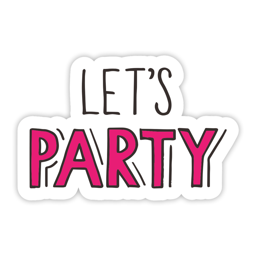 Let's Party Sticker