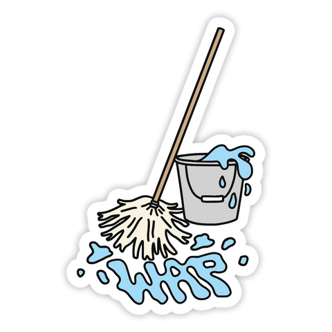 Mop and Bucket Sticker