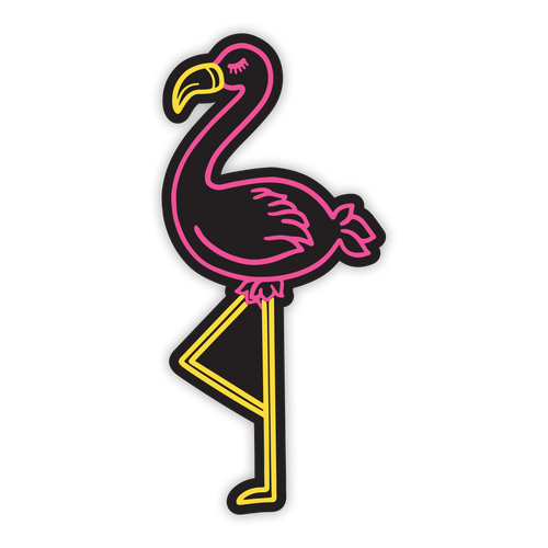 Flamingo Neon Sticker
