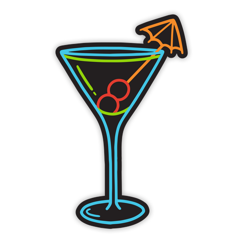 Martini Neon Sticker