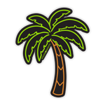 Neon Palm Sticker
