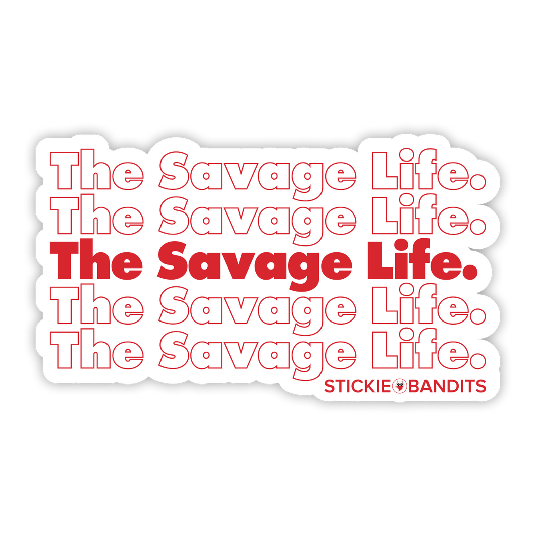 Savage Bag Sticker