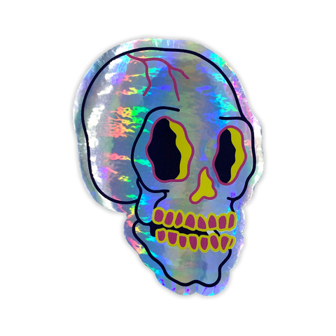 Skully Holographic Sticker