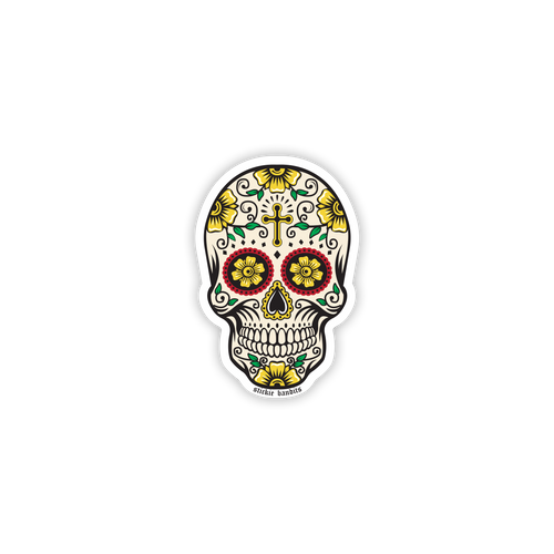 Day of the Dead  Mini Skull STicker