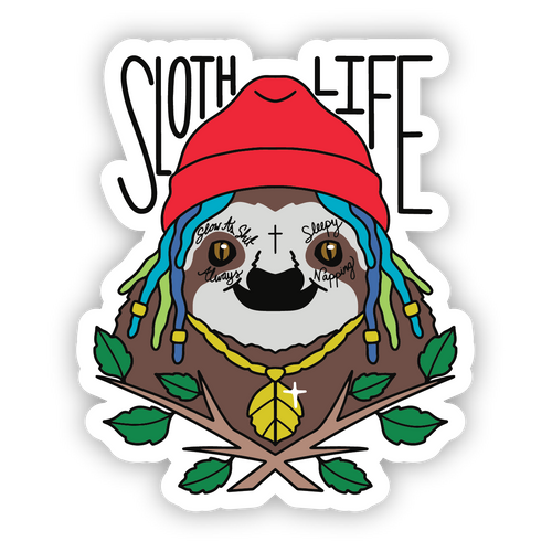 Sloth Life Sticker