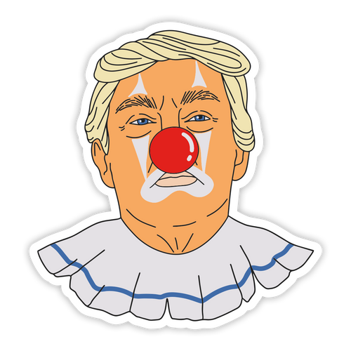 Donald Clown Sticker