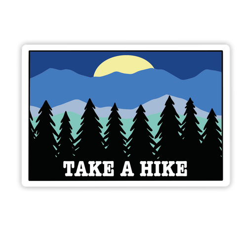 Hike Outside Sticker