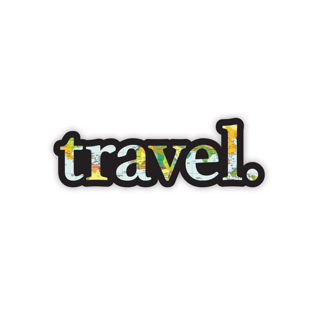 Travel Map Sticker
