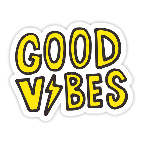Good Vibes Bolt Sticker