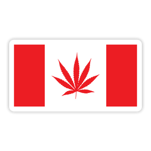 Weed Flag Leaf Sticker