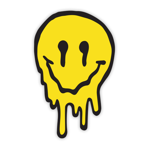Yellow Drip Face Sticker