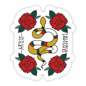 Snake Rose Sticker
