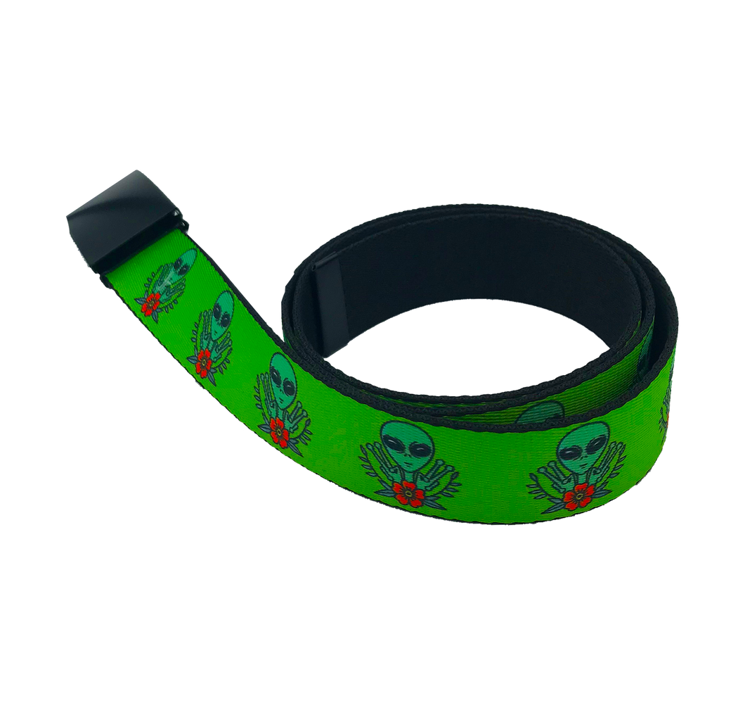 Peace Alien Web Belt