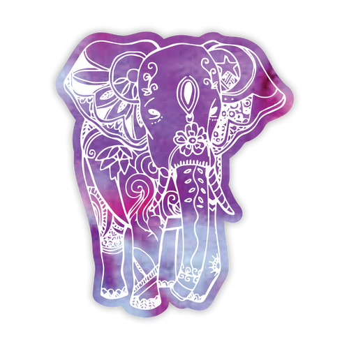 Boho Elephant Tie Dye Sticker