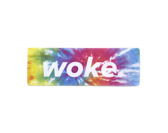 Woke Tye Dye Sticker