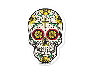 Day of the Dead Cross Skull Sticker