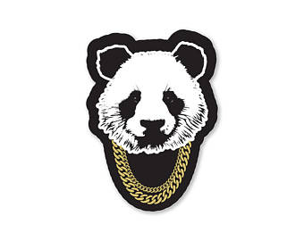 Bad Panda Sticker - Black